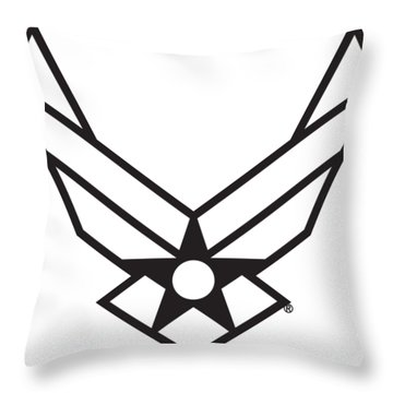 Air Force Logo Throw Pillow
