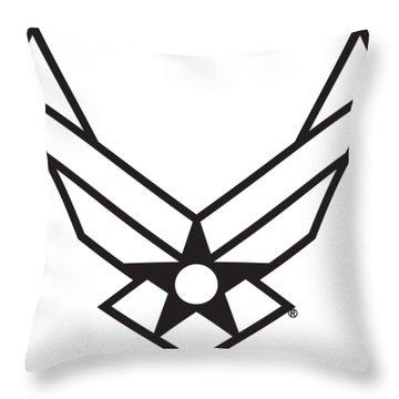 Air Force Logo Throw Pillow