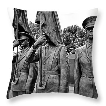 Air Force Memorial - Honor Guard Sculpture Throw Pillow