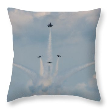 Throw Pillow featuring the photograph Air Force Thunderbirds by Linda Constant