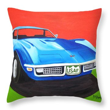 Air Force Vette Throw Pillow