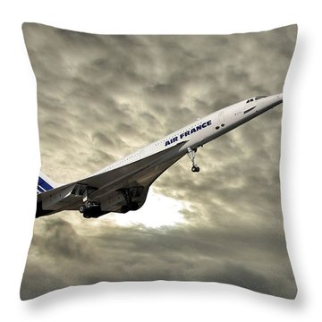 Air France Concorde 115 Throw Pillow