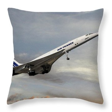 Air France Concorde 122 Throw Pillow
