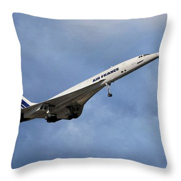 Air France Concorde 117 Throw Pillow