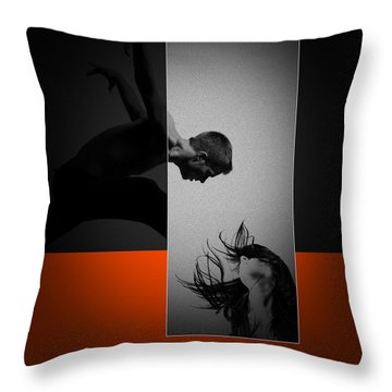 Air Kiss Throw Pillow by Naxart Studio