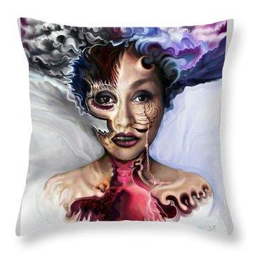 Air Oil Ash Throw Pillow