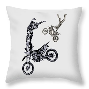 Air Riders Throw Pillow by Caitlyn Grasso