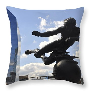 Air Sculpture Throw Pillow by Andrew Dinh