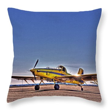 Air Tractor Throw Pillow by William Fields