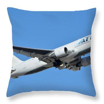 Air Transport International Boeing 767-232 N763cx Phoenix Sky Harbor January 19 2016  Throw Pillow by Brian Lockett