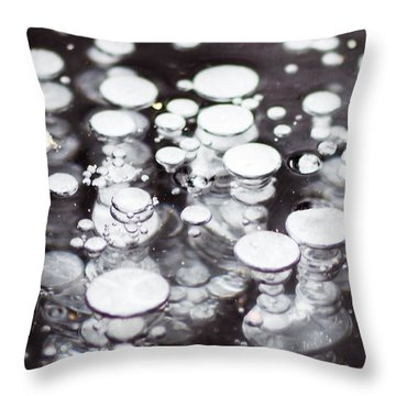 Air Trapped In Ice Throw Pillow