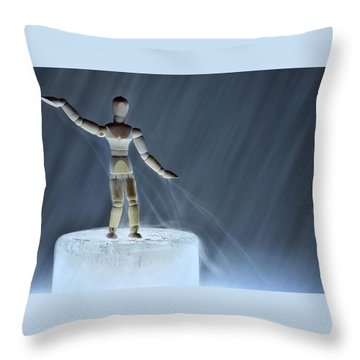 Throw Pillow featuring the photograph Airbender by Mark Fuller