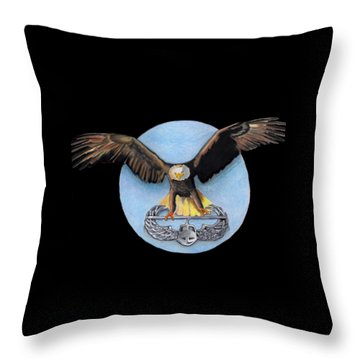 Airborne Throw Pillow by Bill Richards