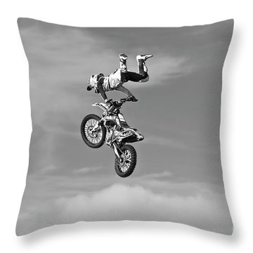 Airborne Motorcycle Throw Pillow