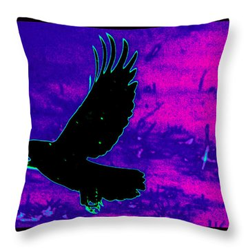 Airborne Throw Pillow by Susanne Still