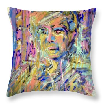 Airbrush 2 Throw Pillow by Pierre Van Dijk