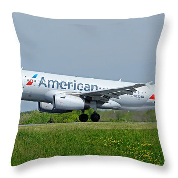 Airbus A319 Throw Pillow