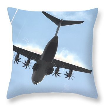 Throw Pillow featuring the photograph Airbus A400m by Tim Beach