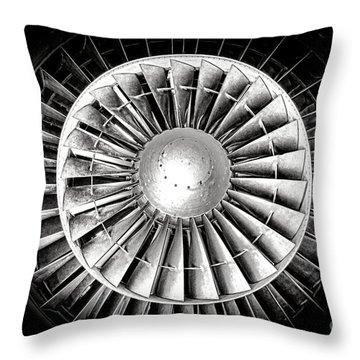 Aircraft Turbofan Engine Throw Pillow