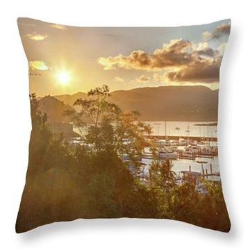 Airlie Beach Marina Throw Pillow