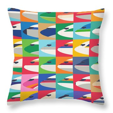 Airline Livery - Small Grid Throw Pillow