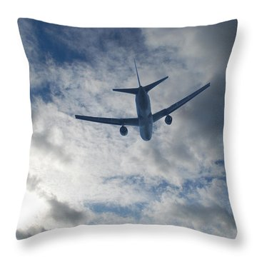Airliner 01 Throw Pillow by Mark Alan Perry