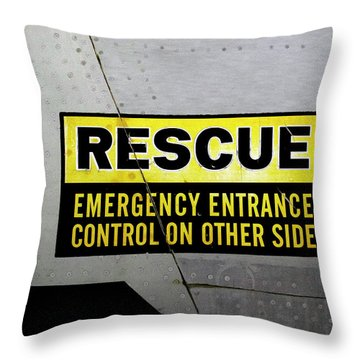 Airplanes Military Rescue Signage Throw Pillow