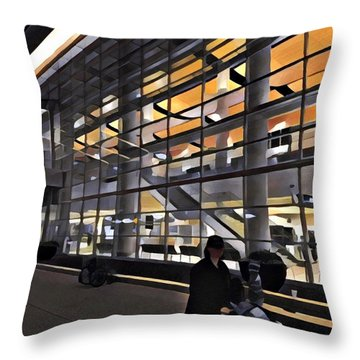 Airport 1.30am Throw Pillow