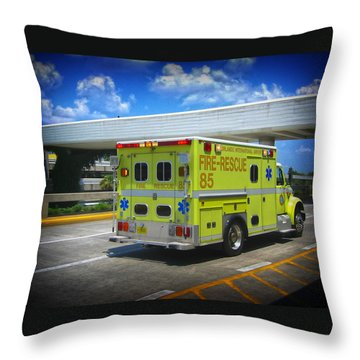 Airport Ambulance Throw Pillow by RKAB Works