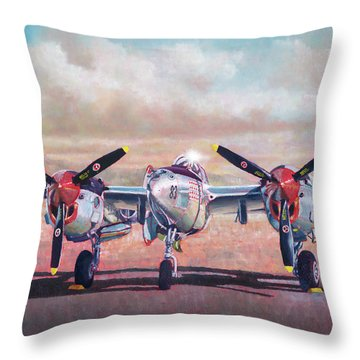Airshow Lightning Throw Pillow