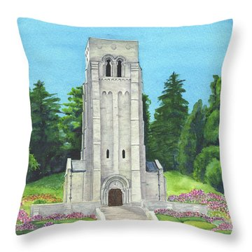Throw Pillow featuring the painting Aisne-marne American Cemetery by Betsy Hackett