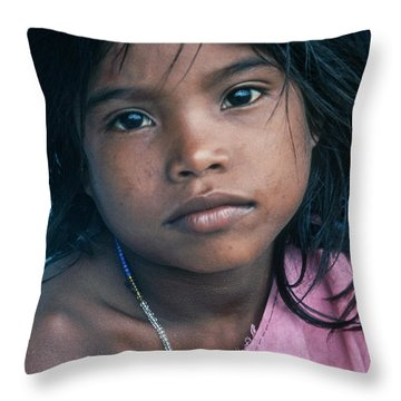 Throw Pillow featuring the photograph Aita by Tina Manley
