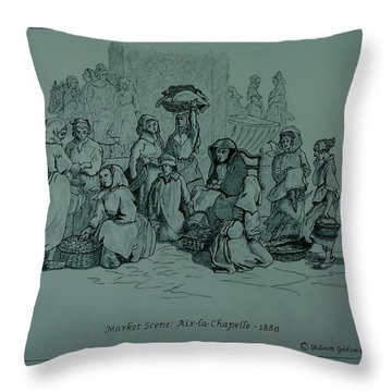 Aix-en-chapelle Throw Pillow