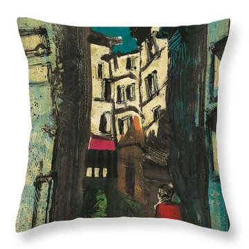 Throw Pillow featuring the painting Aix En Provence Street by Martin Stankewitz