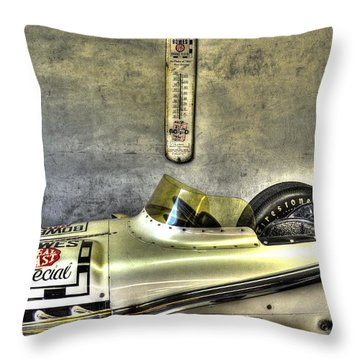 Aj Foyt 1961 Roadster Throw Pillow