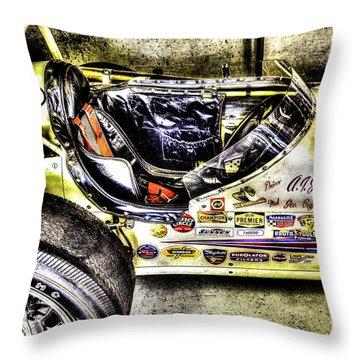 Aj Foyt 1961 Cockpit Throw Pillow by Josh Williams