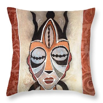 Aje Mask Throw Pillow
