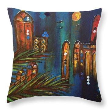 Good Evening Baghdad Throw Pillow