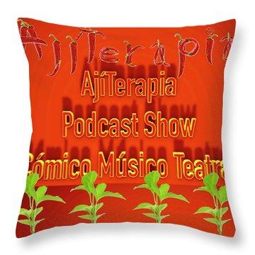 Ajiterapia Podcast Throw Pillow