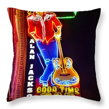 Aj's Good Time Bar Throw Pillow