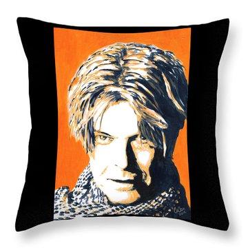 Aka Bowie Throw Pillow