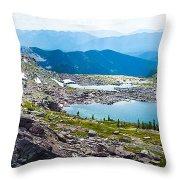 Akaiyan Lake Throw Pillow