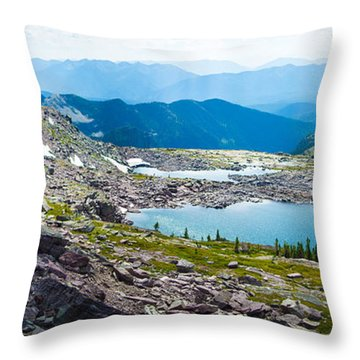 Akaiyan Lake Throw Pillow