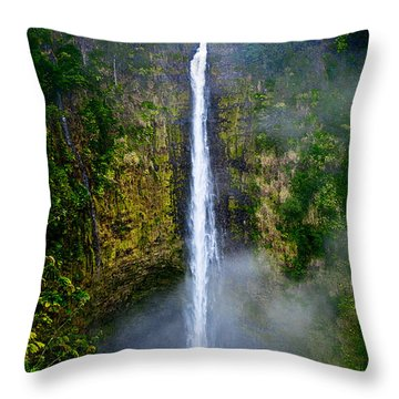 Akaka Falls Throw Pillow by Christopher Holmes
