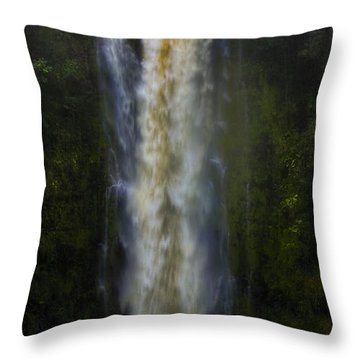 Throw Pillow featuring the photograph Akaka Falls by Ellen Heaverlo