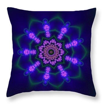 Throw Pillow featuring the digital art Akbal 9 Beats 3 by Robert Thalmeier