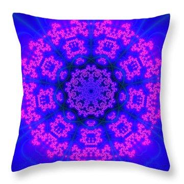 Throw Pillow featuring the digital art Akbal 9 Beats 4 by Robert Thalmeier