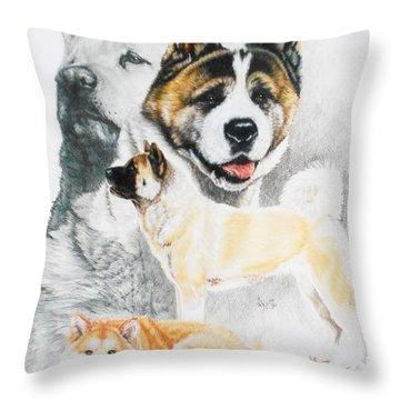 Akita Ken Revamp Throw Pillow