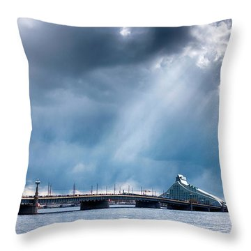 Throw Pillow featuring the photograph Akmens Tilts  by Fabrizio Troiani