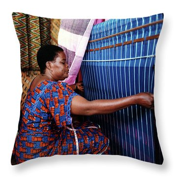 Akwete Weaving Throw Pillow
